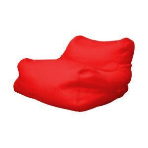 Poltrona a sacco da esterno in tessuto tecnico impermeabile colore rosso