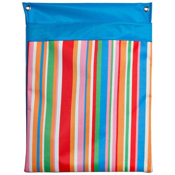 Portaoggetti da parete in pvc con stampa digitale con pattern a righe colorate