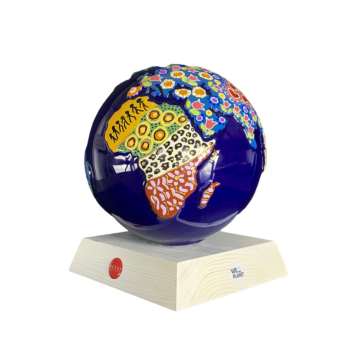 mappamondo in ceramica decorativo