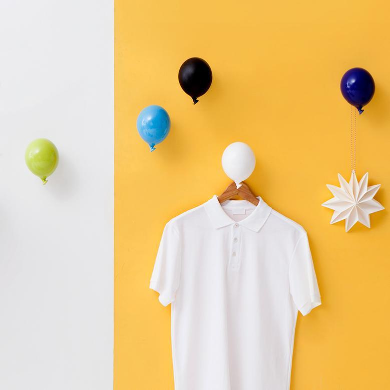 set di ganci appendiabiti da muro a forma di palloncino colorato