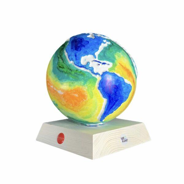 globo decorativo decorato artisticamente