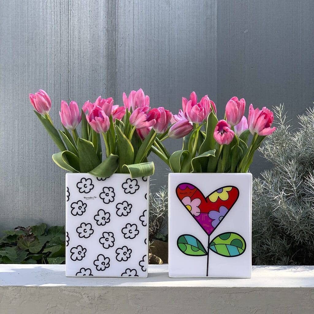vaso ceramica design Romero Britto