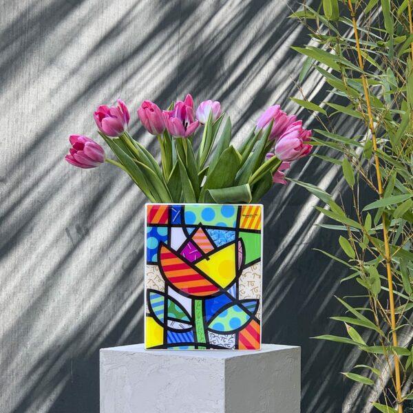 vaso alto rettangolare colorato