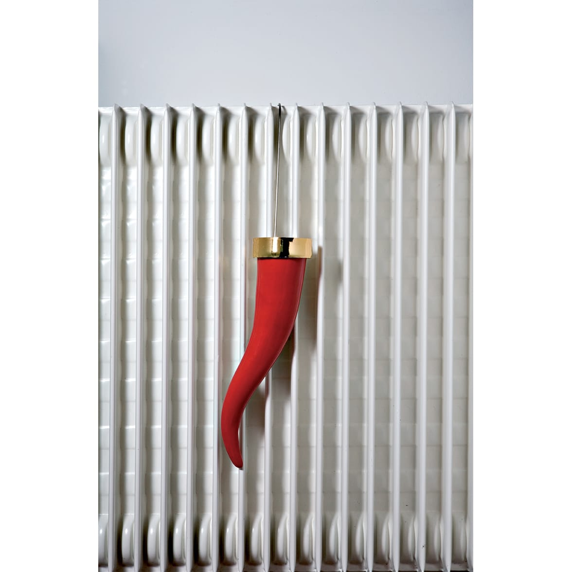 umidificatore per radiatore a forma di corno rosso portafortuna