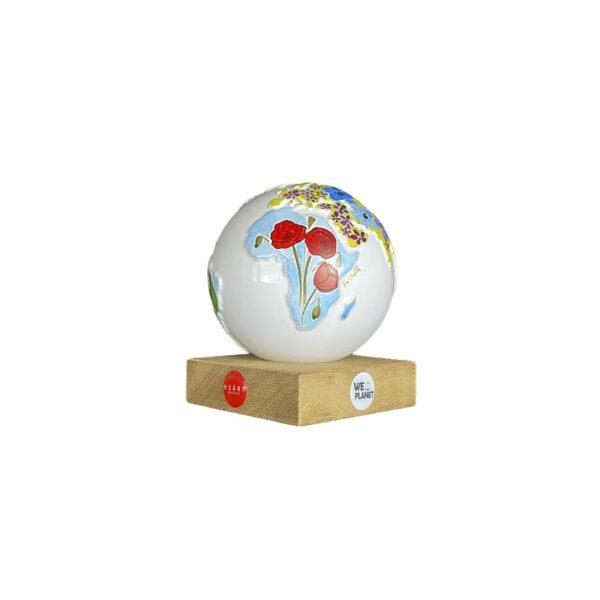mappamondo design decorativo dipinto a mano