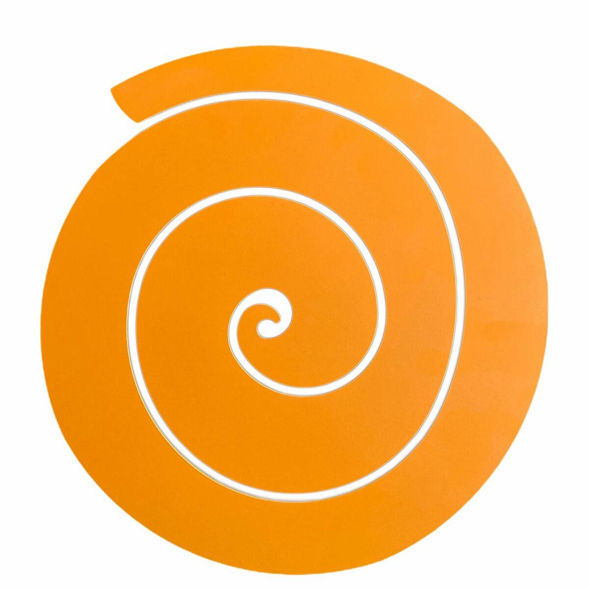 sottopiatto a forma di spirale arancione