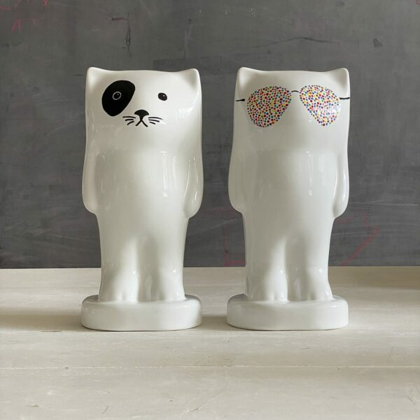 salvadanaio ceramica a forma di gatto