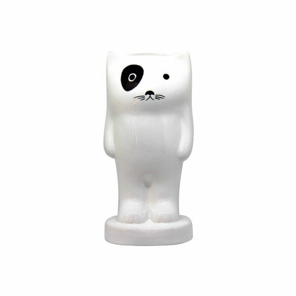 salvadanaio design in ceramica a forma di gatto
