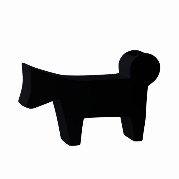 cane design stilizzato in ceramica nero