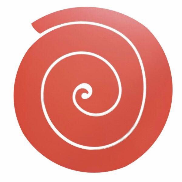 sottopiatto design a forma di spirale di colore rosse